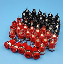 50Pcs 4mm Banana Female Jack Socket Panel Mount Binding Post Connector Red/Black