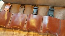 Brown Leather Pipe Roll Pipe Pouch Tabacco Holder leather  Bag Storage handmade