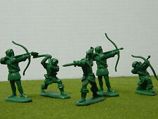 1/32 SCALE MEDIEVAL ROBIN HOOD & MERRY MEN  FIGURE SET BY  BARZSO (RETIRED)