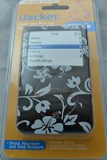 iJACKET iPOD 30 60 80 VIDEO HIBISCUS FLOWER CASE COVER PROTECTOR W BELT CLIP NEW