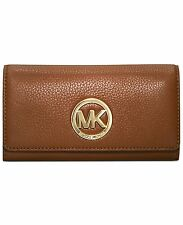 SALE- Michael Kors MK Fulton Carryall Wallet Luggage/Gold $148 NWT
