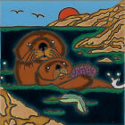 Ceramic Tile Sea Otter hand painted wall decor hot plate installation