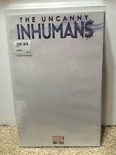 Uncanny Inhumans #1 Variant Blank Cover Comic Book New