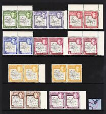 F.I.DEPS 1946 SET WITH SHADES 'GAP IN 80th PARALLEL' SG G1a-G8a MNH.