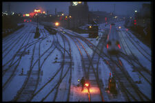 287042 Rail Switching Yard In Winter Montreal Quebec Canada A4 Photo Print