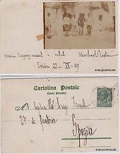 # TORINO: fotocartolina privata 22-IX 1909 CART. CON INCOLLATA PICCOLA FOTO