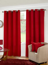 Manhattan Thick Half Panama Unlined Ready Made Curtains - Eyelet / Ringtop