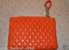 GUESS by Marciano Clutch Quilted Wristlet Lamb Leather Handbag Bag