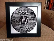 """8"""" X 8"""" Palabras Arte Rolling Stones registro forma ideal para enmarcar por usted Gratis P + P"""