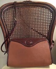Dooney & Bourke Vtg British Tan AWL All Weather Leather Shoulder Handbag Purse