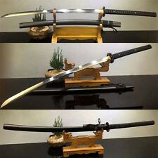 "50""Japanese 1095 CLAY TEMPERED Steel Samurai Katana Sword FULL Tang Sharp Blade"