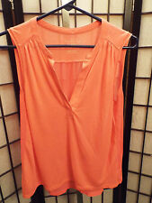 Women's American Eagle Outfitters Pink Sleeveless Sheer Shirt Blouse Small S B17