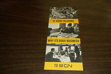 1964 CANADIAN NATIONAL 12 GOOD REASONS WHY IT'S GOOD BUSINESS TO GO CN BROCHURE