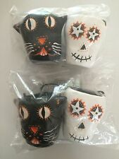 Pottery Barn Kids Halloween Skeleton & Cat Treat Cups/Containers NEW S/4