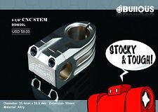 """BUllOÜS T6 CNC Stem BMX, Track, Pista, Fixie 25.4mm x 1-1/8"""" Extension: 50mm"""