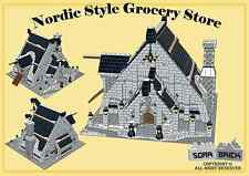 LEGO custom modular building instruction - Nordic Style Grocery Store