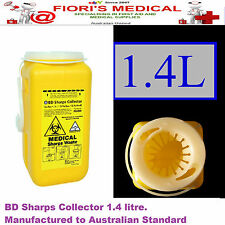 ***NEW**1.4L Sharps Container Bin , Needle / Syringe Disposal - Hypodermic Waste