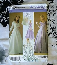 Simplicity 4259 1950's Retro Wedding Gown Dress Pattern 6-14