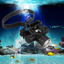 Waterproof 2000Lm CREE XM-L2 LED Diving SCUBA Zoom Headlight Headlamp Light Head