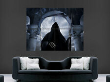 GOTHIC GRIM REAPER POSTER IMAGE SKYTHE HORROR SCARY HOOD SKELETON GIANT LARGE