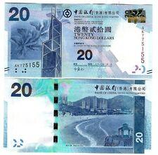 HONG KONG $ 20 BANK OF CHINA 2010 UNC P 341