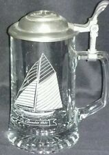 Vintage Wilton Armetale Pewter Beer Mug/Tankard, Glass Bottoms