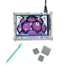 "3.5"" Raspberry Pi TFT LCD Module Touch Screen Display+ Case Heatsink B+  pi2 2"