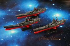 Space Battleship Yamato Star Blazers Cosmo Fleet Set 3 Figure Toy Model A620 Hx3