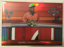 Carl Crawford 2011 Topps Triple Threads All-Star Game 3 color Patch #'d 2/9