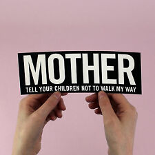 "Danzig sticker! ""Mother"" lyric bumper sticker! heavy metal, glen the misfits"