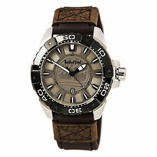 Timberland Men's Somerville Brown Leather Strap Watch - NEW - RRP £115
