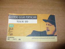 BIGLIETTO TICKET CONCERTO ZUCCHERO SUGAR FORNACIARI TOUR'89 ARENA MILANO 1989