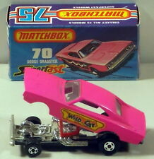 DTE MATCHBOX SUPERFAST 70 DODGE DRAGSTER WITH WILDCAT DOOR LABELS NIOB