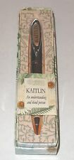 KAITLIN History & Heraldry Signature Name Pen Stationary Boxed Gift Monogram