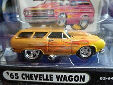 1965 CHEVY CHEVELLE STATION WAGON MUSCLE MACHINES 1/64 NEW IN USED PACKAGE