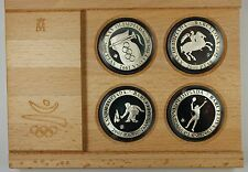 1991 Spain 2000 PTAS Barcelona 1992 Olympic Silver Proof 4 Coin Set-w/Box & COA