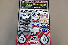 ONE INDUSTRIES QUAD UNIVERSAL GRAPHICS STICKERS 12X18 SHEET  DECALS
