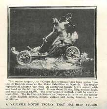 1905 Valuable Motor Trophy Stolen At Olympia, De Dietrich