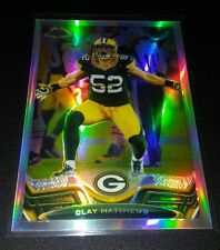 Clay Matthews #107 TOPPS Chrome 2013 refractor Trading Card Green Bay Packers