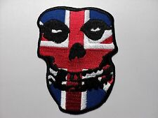 MISFITS SKULL FLAG     EMBROIDERED PATCH IRON OR SEW