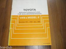 TOYOTA Model F TownAce II Van 1982-1992 UNFALL INSTANDSETZUNG WERKSTATT HANDBUCH