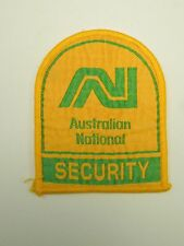 Vintage Australian National Security Train Railway Sew On Patch