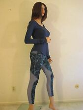 NWT LULULEMON Blue RUNNING IN THE CITY 7/8 Tight Running Yoga Pants~8~SOLD OUT