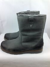 UGG Australia STONEMAN Mens Waterproof Leather/ Lamb Fur Boot Metal 16US/50.5EUR