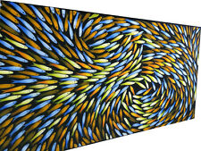 FISH Canvas Art seascape large Painting aboriginal 180cm x 80cm