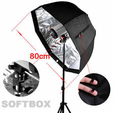 80cm/32in Octagon Softbox Brolly Reflector Umbrella Soft Box fr SpeedLight/Flash