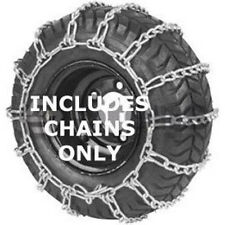 410X350X4 Snowblower Tire Chains, 2 Chains, 2 Link Cross Spacing, Zinc Coated