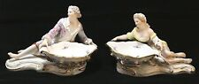 Pair of Meissen Sweet Meat Figural Dishes, Man and Woman