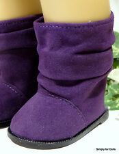 "PURPLE Suede Slouchy DOLL BOOTS SHOES fits 18"" AMERICAN GIRL Doll Clothes"