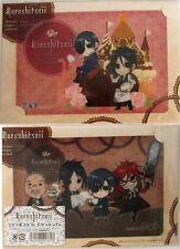 Black Butler Kuroshitsuji 2 Post Card Plastic Bromide Set Chibis Anime NEW